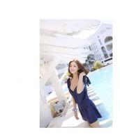 【即納】三角ビキニ水着+サロペット3点セット-tkm-n7006-l-【カラー:ブルー】-【サイズ:L】