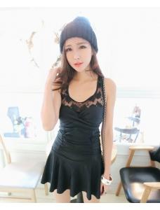 【即納】ファッションワンピース水着-n7125 tk-n7125-bk-m【カラー:ブラック】【サイズ:M】