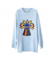 ガーベラレディース ニット・セーター セーター 長袖 刺繍入り pk3387-1