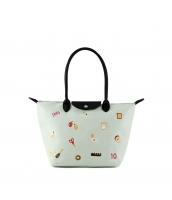 レディースバッグ トートバッグ ショルダーバッグ ハンドバッグ 2wayバッグ キャンバス 帆布 可愛い 刺繍入り qa10356-2