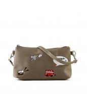 レディースバッグ 2wayバッグ クラッチバッグ セカンドバッグ ショルダーバッグ 可愛い 刺繍入り カートン風 qa10358-3
