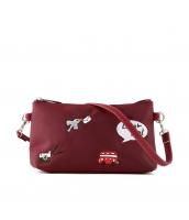 レディースバッグ 2wayバッグ クラッチバッグ セカンドバッグ ショルダーバッグ 可愛い 刺繍入り カートン風 qa10358-4