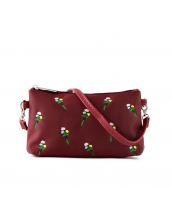 レディースバッグ 2wayバッグ クラッチバッグ セカンドバッグ ショルダーバッグ 可愛い 刺繍入り カートン風 qa10358-7