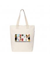エコバッグ レディースバッグ トートバッグ ハンドバッグ 男女兼用バッグ エコバッグ キャンバス 帆布 文芸調 ショッピングバッグ シンプル カートン風 qa10414-15
