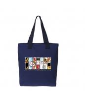 エコバッグ レディースバッグ トートバッグ ハンドバッグ 男女兼用バッグ エコバッグ キャンバス 帆布 文芸調 ショッピングバッグ シンプル カートン風 qa10414-8