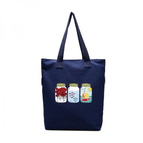 エコバッグ・ショッピングバッグ レディースバッグ トートバッグ ショルダーバッグ ハンドバッグ 2wayバッグ キャンバス 帆布 文芸調 シンプル 清楚 qa10564-2