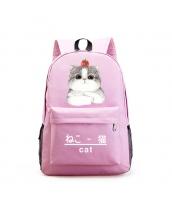 男女兼用バッグ バックパック リュックサック レディースバッグ メンズバッグ 学園風 シンプル 猫柄 大容量 qa10565-4