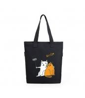 エコバッグ レディースバッグ トートバッグ ショルダーバッグ ハンドバッグ 2wayバッグ 猫柄 キャンバス 帆布 文芸調 ショッピングバッグ qa10586-2