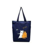 エコバッグ レディースバッグ トートバッグ ショルダーバッグ ハンドバッグ 2wayバッグ 猫柄 キャンバス 帆布 文芸調 ショッピングバッグ qa10586-3
