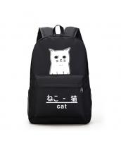男女兼用バッグ バックパック リュックサック レディースバッグ メンズバッグ 猫柄 旅行 学園風 qa10603-1
