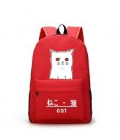 男女兼用バッグ バックパック リュックサック レディースバッグ メンズバッグ 猫柄 旅行 学園風 qa10603-2