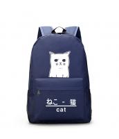 男女兼用バッグ バックパック リュックサック レディースバッグ メンズバッグ 猫柄 旅行 学園風 qa10603-3