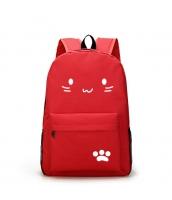 男女兼用バッグ バックパック リュックサック レディースバッグ メンズバッグ シンプル 猫柄 学園風 カジュアル 旅行 大容量 qa10604-2