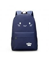 男女兼用バッグ バックパック リュックサック レディースバッグ メンズバッグ シンプル 猫柄 学園風 カジュアル 旅行 大容量 qa10604-3