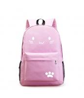 男女兼用バッグ バックパック リュックサック レディースバッグ メンズバッグ シンプル 猫柄 学園風 カジュアル 旅行 大容量 qa10604-4