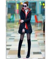 【即納】ダウンコート コート ミディアム フード付きジップアップカラフル多色重ね着風 qc4623-tk-qc4623-bk-l