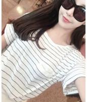 マリン風胸元ポケット付き Tシャツ カットソー 半袖・五分袖 丸首 ボーダーQC5953