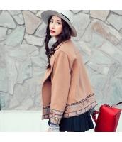 ガーベラレディース 刺繍 長袖 ショートコート ゆったり ウール フリースジャケット rp10041-1