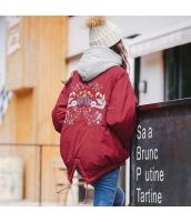 ガーベラレディース フード付き 刺繍 ショート丈 ダウンジャケット rp10063-1