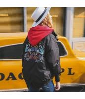 ガーベラレディース フード付き 刺繍 ショート丈 ダウンジャケット rp10063-2