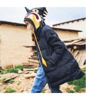 ガーベラレディース フード付き 刺繍 長袖 ダウンコート ミディアム丈 rp10066-1
