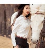 ガーベラレディース 花柄 刺繍 純綿 シャツ 長袖 rp10132-1