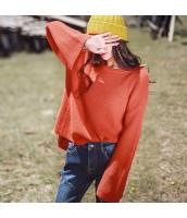 ガーベラレディース 丸首 刺繍 プルオーバー コーデアイテム 着やせ ゆったり ニットウェア セーター 長袖 rp10351-1