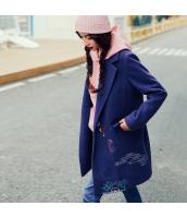 ガーベラレディース 刺繍 ストレート コーデアイテム ウール フリースコート ミディアム丈コート rp10365-1