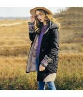 ガーベラレディース フード付き 刺繍 ゆったり ダウンコート ミディアム丈コート rp10400-1