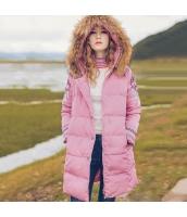 ガーベラレディース ファー襟 フード付き 刺繍 ダウンコート ミディアム丈コート rp10401-1