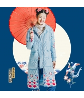 ガーベラレディース 刺繍 フード付き ダウンコート ロングコート rp10406-1