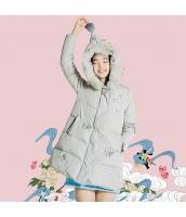 ガーベラレディース フード付き 刺繍 ダウンコート ミディアム丈コート rp10407-1