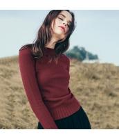 ガーベラレディース 丸首 刺繍 プルオーバー ニットウェア セーター 長袖 rp10445-2