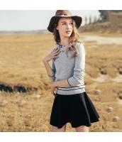 2点セット ガーベラレディース 刺繍 長袖 コーデアイテム アンサンブル ニット・セーター フレアスカート rp10535-1