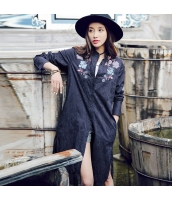ガーベラレディース ロングコート 刺繍入り rp10767-1