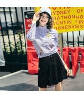 ガーベラレディース ギャザースカート ミニスカート 刺繍入り rp11115-1