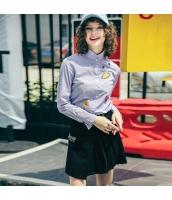ガーベラレディース シャツ 長袖 刺繍入り rp11180-1