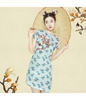 ガーベラレディース チャイナドレス ミニドレス 刺繍入り rp11207-1