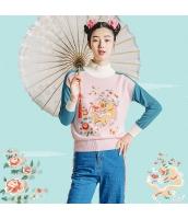 ガーベラレディース ニット・セーター セーター 長袖 刺繍入り rp11233-1