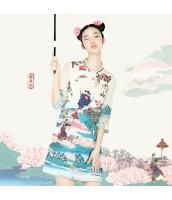 ガーベラレディース ミニワンピース タイトワンピース 刺繍入り 七分袖 シフォンワンピ rp11253-1