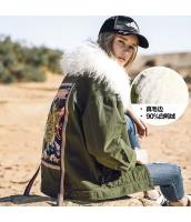 ガーベラレディース ダウンジャケット ファー襟 刺繍入り rp11421-1
