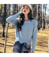 ガーベラレディース ニット・セーター セーター 長袖 ワッペン刺繍 rp11480-2
