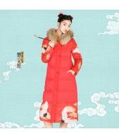 ガーベラレディース ダウンコート ロングコート ファーフード 刺繍入り 民族風 rp11541-1