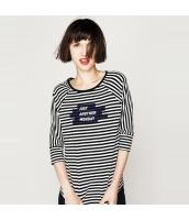 ガーベラレディース Tシャツ カットソー 七分袖 ボーダー柄 夏物 rp11549-1