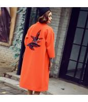 ガーベラレディース フリースコート ロングコート 刺繍入り rp11749-1