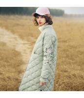 ガーベラレディース ダウンコート ミディアムコート 刺繍入り rp11771-1