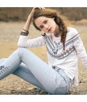 ガーベラレディース Tシャツ カットソー 長袖 ハイロー裾 刺繍入り 春物 rp11831-1