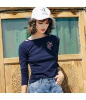 ガーベラレディース Tシャツ カットソー 長袖 コーディアイテム 刺繍入り 春物 rp11847-1