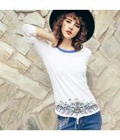 ガーベラレディース Tシャツ カットソー 長袖 着やせ 刺繍入り 春物 rp11858-1