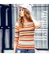 ガーベラレディース ニットウェア セーター 七分袖 ボーダー柄 春物 rp11912-1